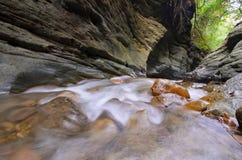 Намочите laeng Wang Sila падения, laeng Wang Sila гранд-каньона, район Pua, Nan, Таиланд Стоковое Изображение RF