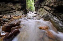 Намочите laeng Wang Sila падения, laeng Wang Sila гранд-каньона, район Pua, Nan, Таиланд Стоковая Фотография
