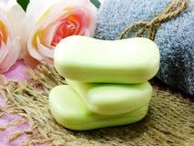 Намыльте бар frome бара естественный естественного мыла для очищать и здоровый Стоковое Фото