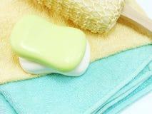 Намыльте бар frome бара естественный естественного мыла для очищать и здоровый Стоковые Фото