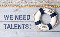 Нам нужны таланты - гостеприимсво на борту Стоковое Изображение