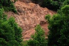Нанесенная шрам земля Стоковые Изображения RF