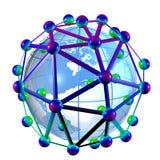 Нанотехнология, схематическое художественное произведение компьютера Стоковая Фотография