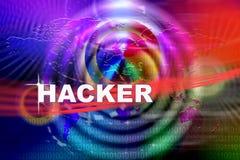 Нападение хакера Стоковое фото RF