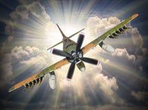 Нападение бомбардировщика Стоковое Фото