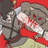 Нападение крысы Стоковое фото RF