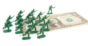 Нападение доллара на белой предпосылке Стоковая Фотография RF