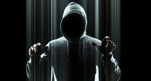 Нападение футуристического хакера виртуальное Стоковая Фотография RF