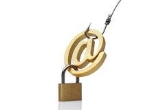 Нападение электронной почты phishing стоковое изображение