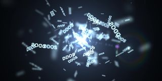 Нападение DDOS, троянец инфекции, нападения вируса Стоковая Фотография RF