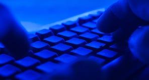 Нападения хакера кибер POV стоковые фото
