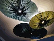 Напечатайте абстрактные света - голубые, зеленый, военно-морской флот - горизонтальные Стоковое Изображение RF