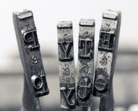 Напечатайте старые молотки tipewriter Стоковое Изображение RF