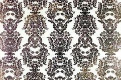 Напечатанная годом сбора винограда картина повторения штофа Стоковое Изображение