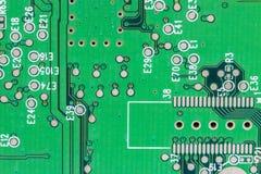 Напечатанная материнская плата компьютера с микросхемой Стоковая Фотография RF