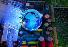напечатанное электронное цепи доски Стоковые Изображения