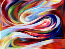 Напечатанные кривые Стоковое Фото