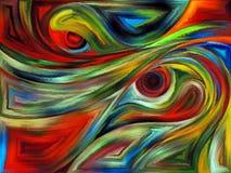Напечатанные кривые Стоковое Изображение