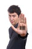 напечатанный код штриховой маркировки Стоковая Фотография