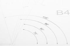 Напечатанный технический чертеж  Стоковые Фотографии RF
