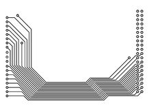 напечатанный pcb цепи доски стоковое фото rf