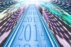 Напечатан на сроке показать начало 2014 иллюстрация вектора