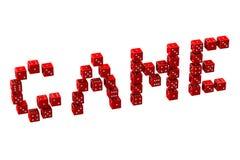 Написанная игра в слова dices иллюстрация штока