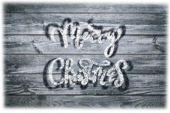Написанная рукой фраза Нового Года Текст поздравительной открытки с снежинками Стоковое Изображение RF