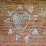 написанная стена упования кирпича Стоковое Изображение