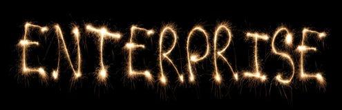 написанное слово sparkler предпринимательства Стоковые Изображения