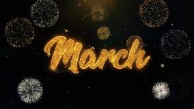 Написанные мартом частицы золота взрывая дисплей фейерверков бесплатная иллюстрация