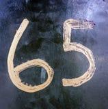 Написанные формулировки в огорченном положении найденный оформлением шестьдесят пять 65 Стоковые Фото