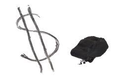 написанный доллар угля Стоковая Фотография