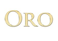 написанный испанский язык oro пем золота золотистый Стоковая Фотография