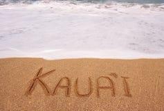 написанный прилив песка kauai вздымаясь Стоковое фото RF