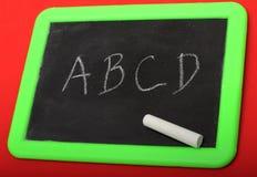 написанный chalkboard Стоковое фото RF