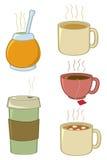 напитки горячие Стоковое Изображение RF