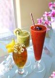 Напитки лета жидкостные и замороженные стоковые изображения rf