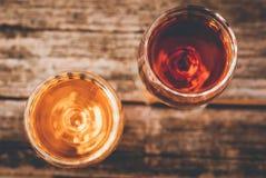 Напиток ликера alcohlolic после обедающего стоковая фотография