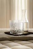 Напиток на кровати Стоковые Фотографии RF