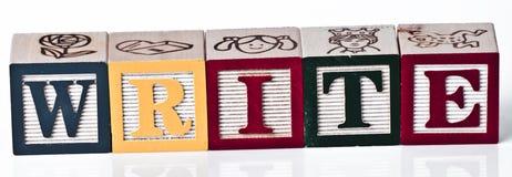 Напишите блоки Стоковое Изображение RF