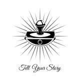 Напишите ваш рассказ Винтажный ярлык писателя Старое пресс-папье на белизне Стоковые Фото