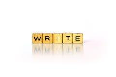 Напишите - испуг блоки Стоковые Изображения