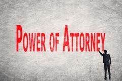 Напишите слова на стене, силу юриста Стоковое Фото