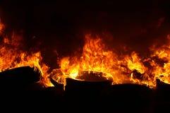 Наполните газом взрыв, огонь и разрушение, большой случай, стоковое изображение rf