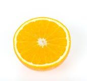 Наполовину померанцовый плодоовощ на белизне Стоковые Изображения RF