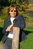 напольная женщина Стоковая Фотография RF