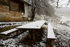 напольная зима села Стоковое Фото
