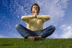 напольная йога Стоковые Фото