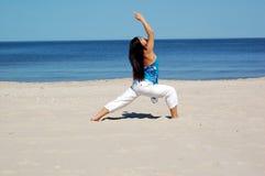 напольная йога Стоковая Фотография